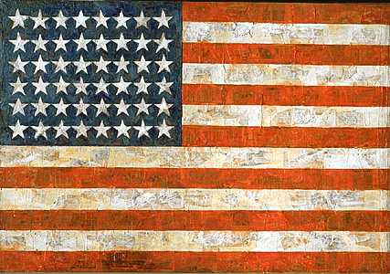 Johns-flag-encaustic-oil-fabric_on_plywood-1954-55-42x60